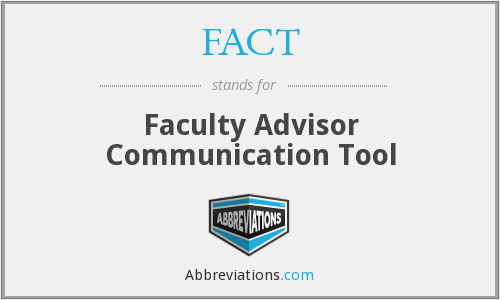 FACT - Faculty Advisor Communication Tool