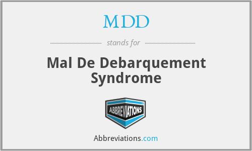 MDD - Mal De Debarquement Syndrome