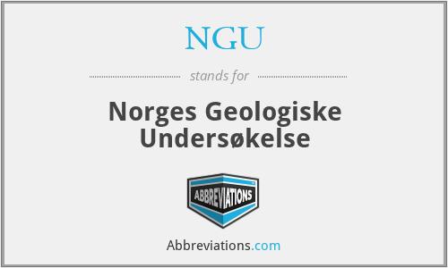 NGU - Norges Geologiske Undersøkelse