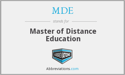MDE - Master of Distance Education