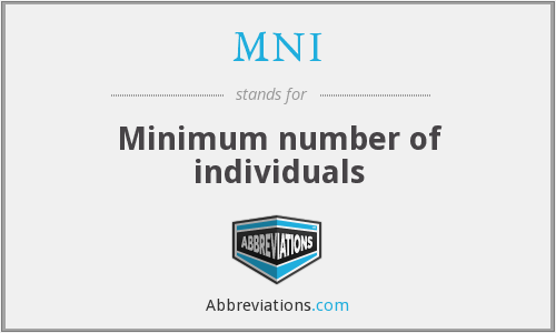 MNI - Minimum number of individuals