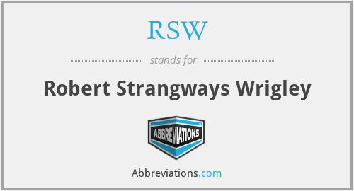 RSW - Robert Strangways Wrigley