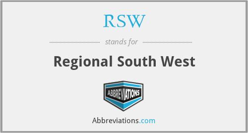 RSW - Regional South West