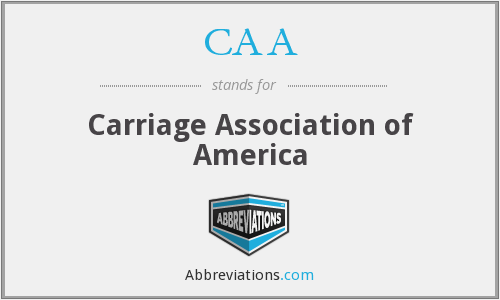 CAA - Carriage Association of America