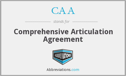 CAA - Comprehensive Articulation Agreement