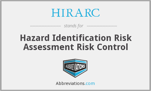 HIRARC - Hazard Identification Risk Assessment Risk Control