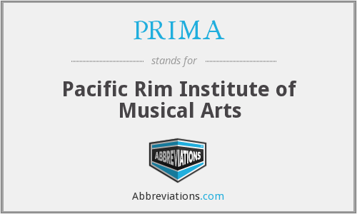 PRIMA - Pacific Rim Institute of Music a