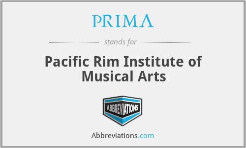PRIMA - Pacific Rim Institute of Music a