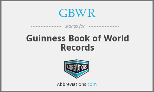 What is the abbreviation for guinness book of world records ccuart Gallery