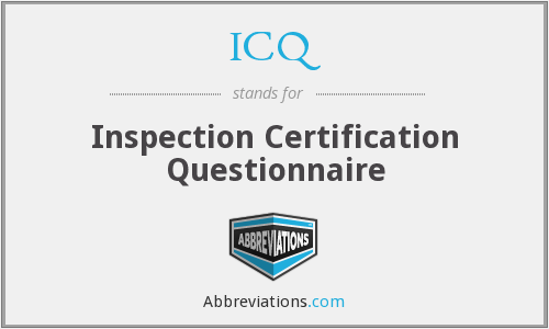 ICQ - Inspection Certification Questionnaire