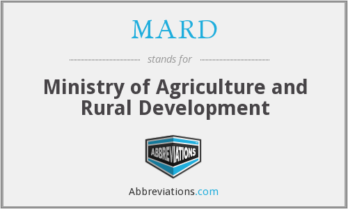 MARD - Ministry of Agriculture and Rural Development