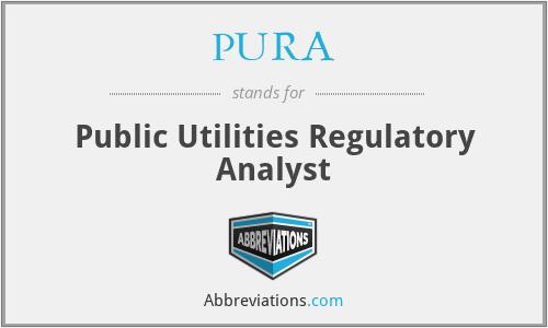 PURA - Public Utilities Regulatory Analyst