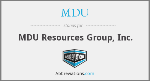 MDU - MDU Resources Group, Inc.