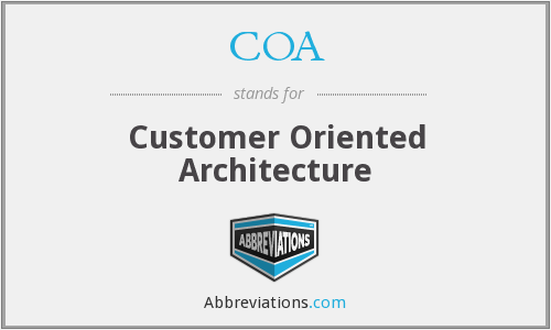 COA - Customer Oriented Architecture