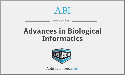 ABI - Advances in Biological Informatics