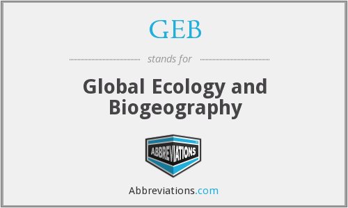 GEB - Global Ecology and Biogeography