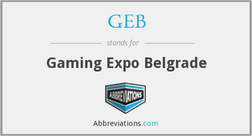 GEB - Gaming Expo Belgrade