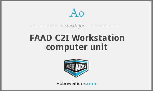 A0 - FAAD C2I Workstation computer unit