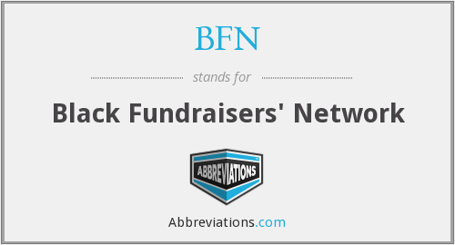 BFN - Black Fundraisers' Network