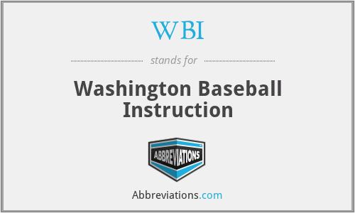 WBI - Washington Baseball Instruction