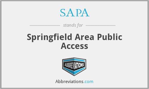 SAPA - Springfield Area Public Access