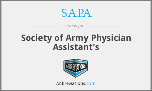 SAPA - Society of Army Physician Assistant's