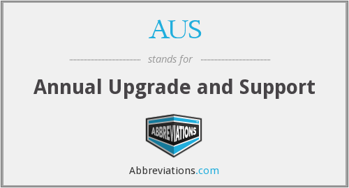 AUS - Annual Upgrade and Support