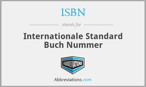 ISBN - Internationale Standard Buch Nummer