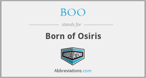 BOO - Born of Osiris