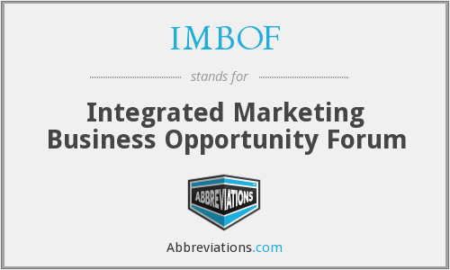 What does IMBOF stand for?