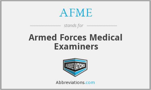 AFME - Armed Forces Medical Examiners