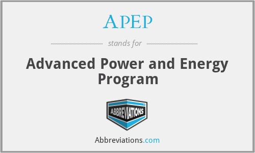 APEP - Advanced Power and Energy Program