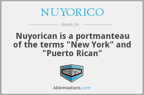 What does NUYORICO stand for?