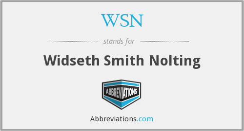 WSN - Widseth Smith Nolting