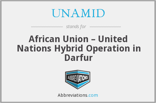 What does UNAMID stand for?