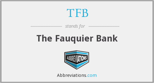 TFB - The Fauquier Bank