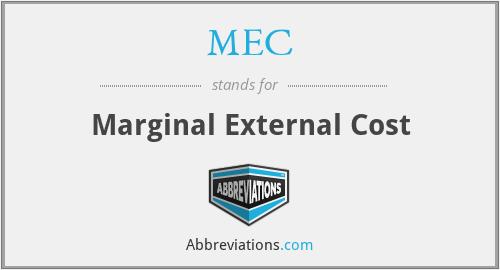 MEC - Marginal External Cost