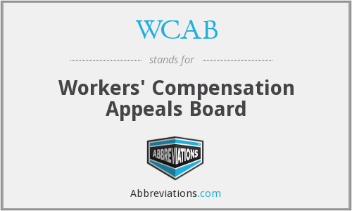 What does WCAB stand for?