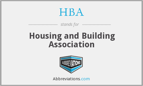 HBA - Housing and Building Association