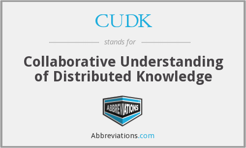 What does CUDK stand for?