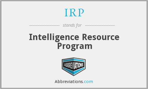 IRP - Intelligence Resource Program