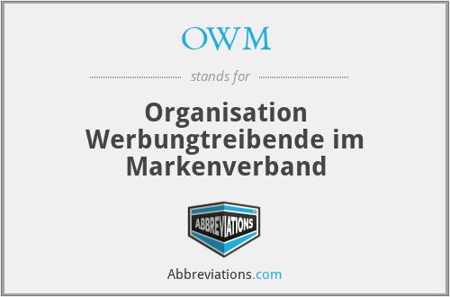 OWM - Organisation Werbungtreibende im Markenverband