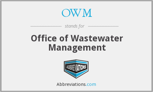OWM - Office of Wastewater Management