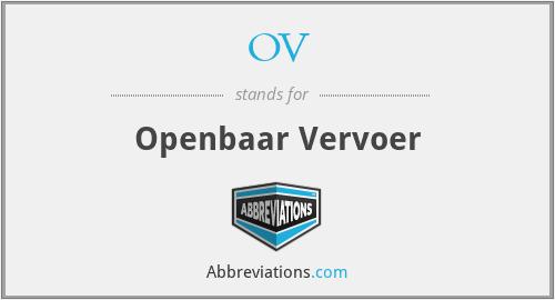 OV - Openbaar Vervoer