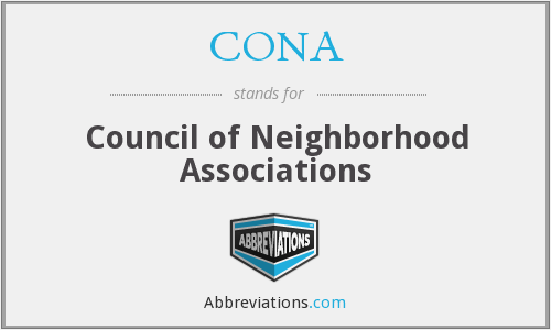 What does CONA stand for?