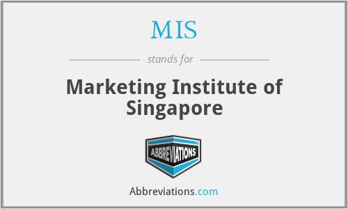 MIS - Marketing Institute of Singapore
