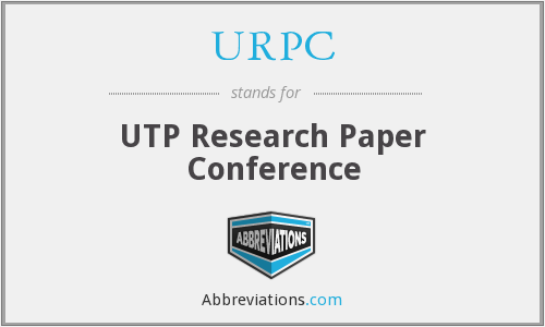 URPC - UTP Research Paper Conference