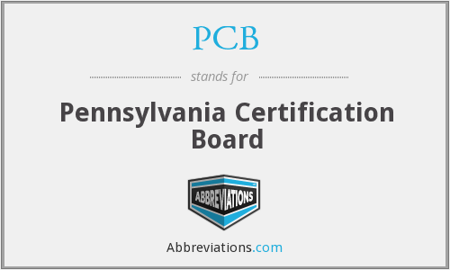 What is the abbreviation for Pennsylvania Certification Board?