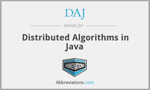 DAJ - Distributed Algorithms in Java