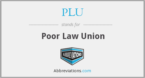 PLU - Poor Law Union